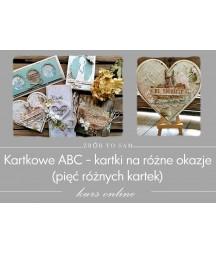 Kartkowe ABC - kartki na różne okazje - jak zrobić kartkę kurs online