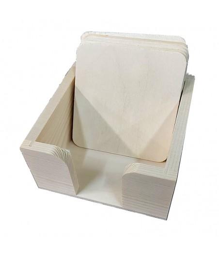 Podkładki pod kubek w pudełku - zestaw
