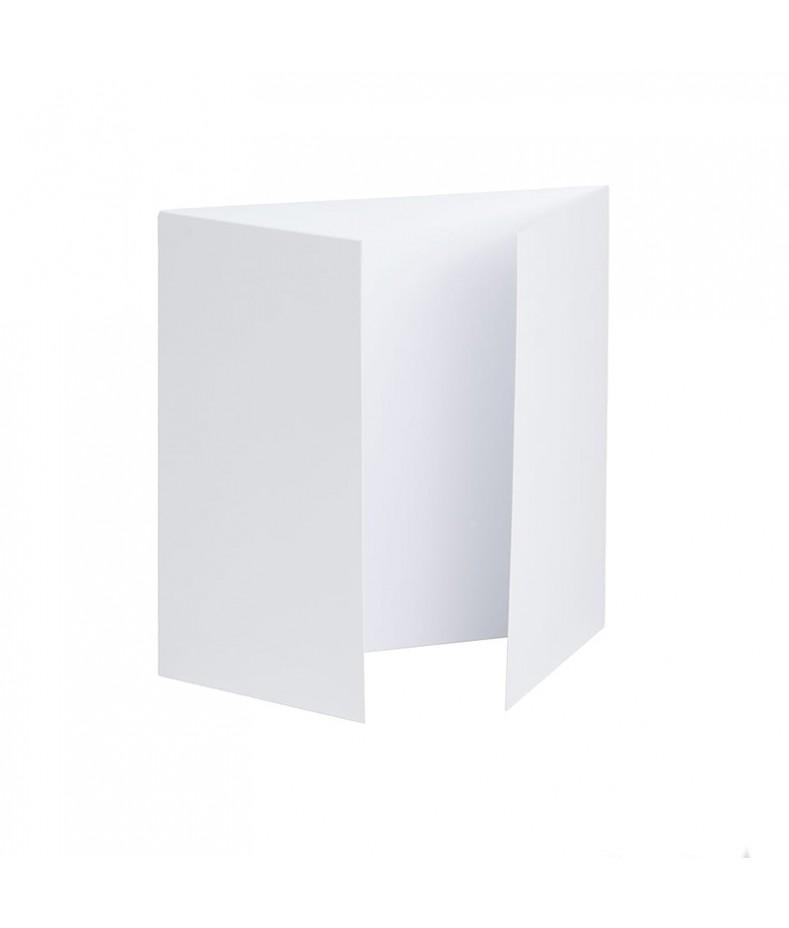 Baza do kartki kwadratowa biała 14x14 podwójna listewka