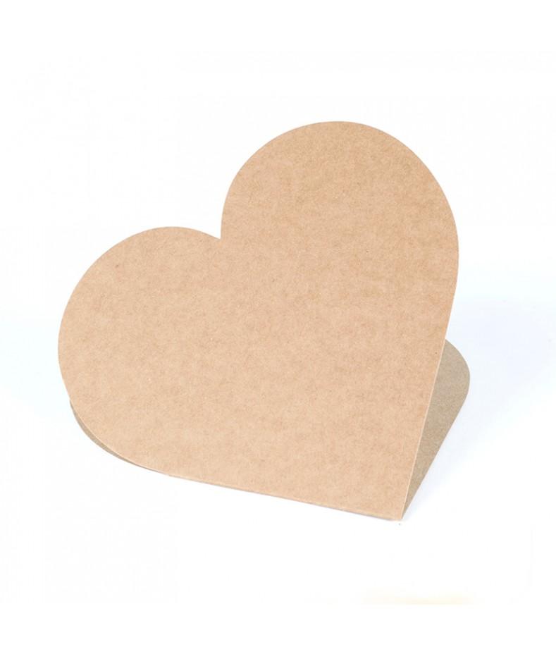 Baza do kartki - serce 14x14 cm kraft RzP