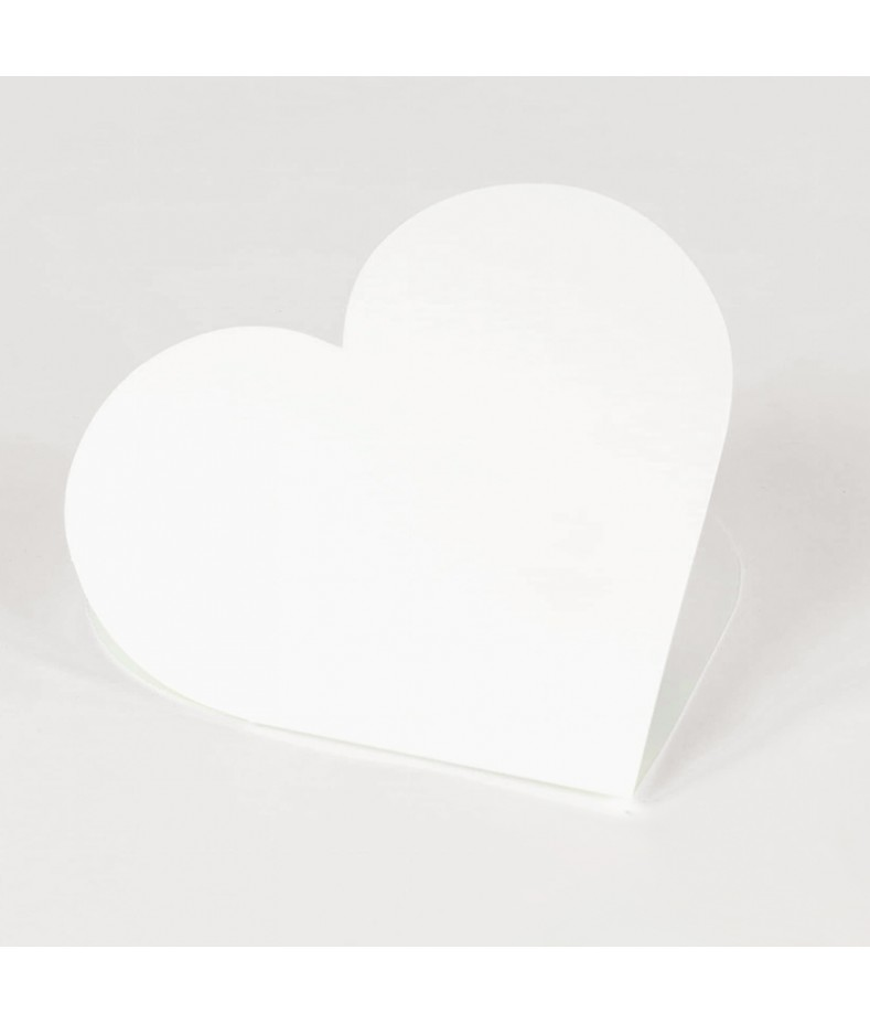 Baza do kartki - serce 14x14 cm kremowa RzP