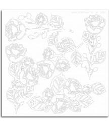 Elementy tekturowe do scrapbookingu, Scrapiniec - Kwiaty róży 5784