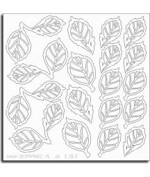 Elementy tekturowe Scrapiniec 5783, Liście róży