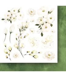 Bloczek do scrapbookingu 15x15 cm, Złote sny flowers - dodatki - Paper Heaven