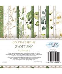 Zestaw papierów do scrapbookingu Złote sny flowers - dodatki - Paper Heaven