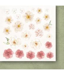 Bloczek do scrapbookingu 15x15 cm, Miłosne zapiski flowers - dodatki - Paper Heaven