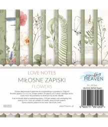 Zestaw papierów do scrapbookingu Miłosne zapiski flowers - dodatki - Paper Heaven