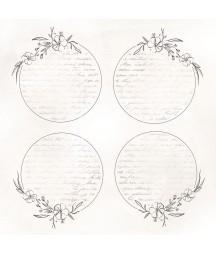 Bloczek do scrapbookingu 15x15 cm, Miłosne zapiski - Paper Heaven