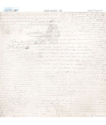 Papier do scrapbookingu 30x30 cm, Miłosne zapiski 03 Paper Heaven