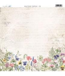 Papier do scrapbookingu 30x30 cm, Miłosne zapiski 04 Paper Heaven