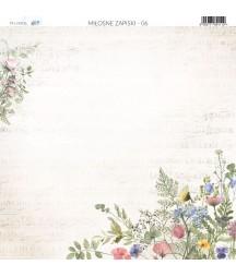 Papier do scrapbookingu 30x30 cm, Miłosne zapiski 06 Paper Heaven