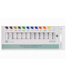 Zestaw farb akrylowych w tubach, 12 kolorów, 12x12 ml