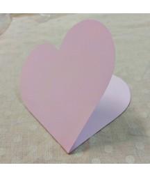 Baza do kartki - serce 14x14 cm różowa RzP