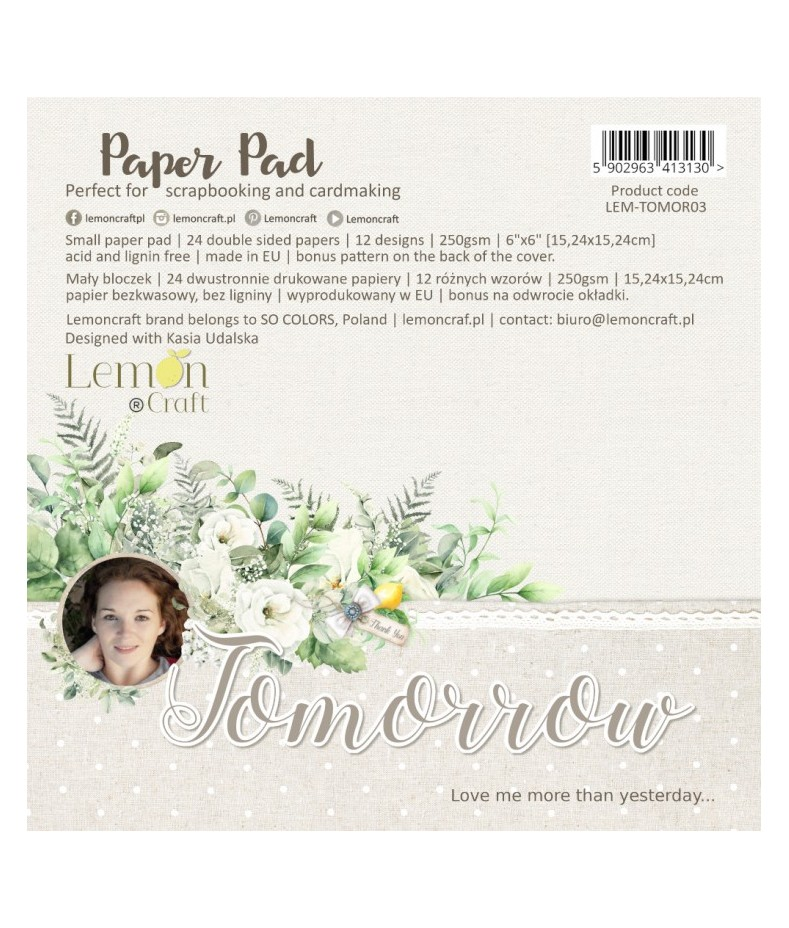 Zestaw papierów do scrapbookingu 15x15 Tomorrow - Lemoncraft