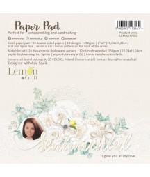 Zestaw papierów do scrapbookingu 15x15 Sentimental - Lemoncraft