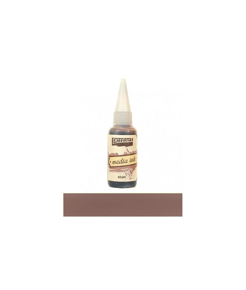 Tusz alkoholowy Pentart Media Ink - brąz moszczu