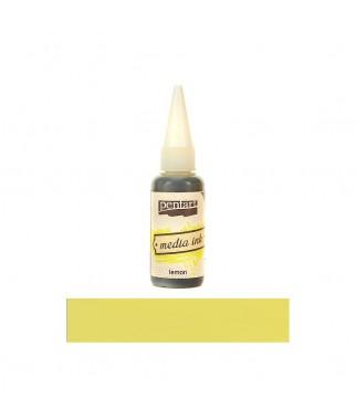 Tusz alkoholowy Pentart Media Ink - cytrynowy