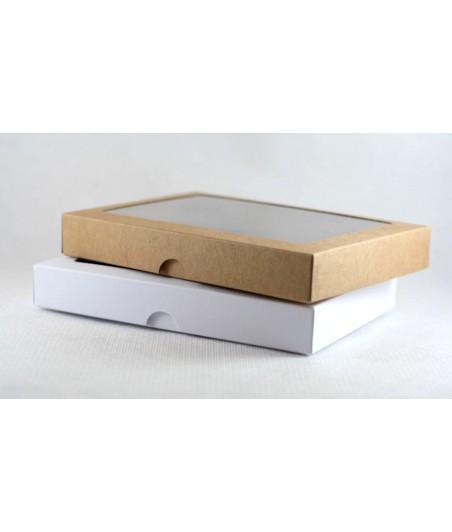 Pudełko z okienkiem na kartkę A5 białe