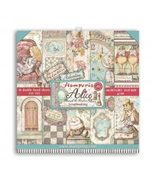 Papiery do scrapbookingu, Alicja po drugiej stronie lustra SBBS42 Stamperia - bloczek