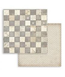Bloczek papierów do scrapbookingu 20x20 cm, Alice - Alicja tła / Stamperia SBBS46