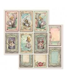 Bloczek papierów do scrapbookingu 30x30 cm, Alice - Alicja po drugiej stronie lustra / Stamperia SBBL93