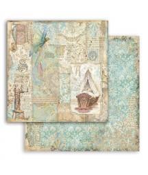 Bloczek papierów do scrapbookingu 20x20 cm, Sleeping beauty - Śpiąca królewna / Stamperia SBBS38