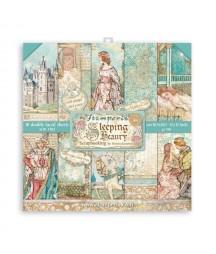 Bloczek papierów do scrapbookingu 30x30 cm, Sleeping beauty - Śpiąca królewna / Stamperia SBBL89