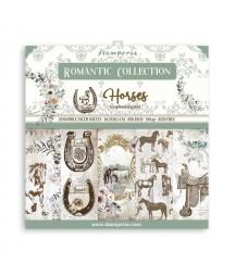 Bloczek papierów do scrapbookingu 20x20 cm, Romantic Horses / Stamperia SBBS39