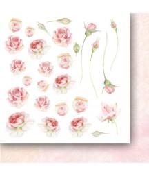 Bloczek do scrapbookingu 15x15 cm, Różane wino flowers - dodatki - Paper Heaven