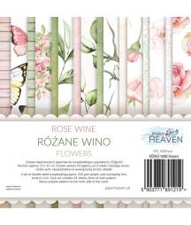 Zestaw papierów do scrapbookingu Różane wino flowers - dodatki - Paper Heaven