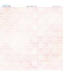 Papier do scrapbookingu 30x30 cm, Różane wino 02 Paper Heaven