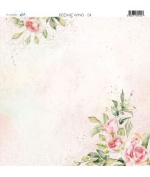 Papier do scrapbookingu 30x30 cm, Różane wino 04 Paper Heaven