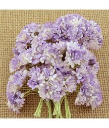 Kwiatki papierowe gipsówka fioletowa, 2-Tone Lilac Mulberry Gypsophila Flowers SAA-411 10 mm, 20 szt.
