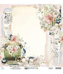 Papier do scrapbookingu Mintay Papers 12x12, Written Memories 01 przód
