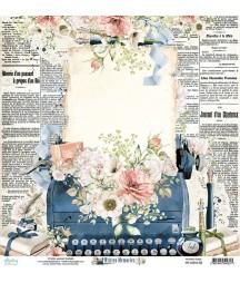 Papier do scrapbookingu Mintay Papers 12x12, Written Memories 02 przód