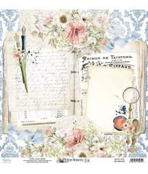 Papier do scrapbookingu Mintay Papers 12x12, Written Memories 03 przód