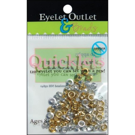 Zestaw nitów, Eyelet Outlet Quicklets Round, Anodized, 84 szt.