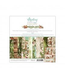 Bloczek do scrappbokingu 15x15 cm, Woodland Mintay Papers