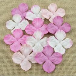 Kwiatki papierowe Mixed Pink Mulberry Hydrangea Blooms SAA-385 35 mm, 20 szt.