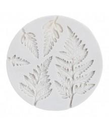 Forma silikonowa do decoupage - Aniołki, liście paproci