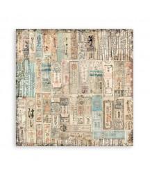 Papier do scrapbookingu Stamperia 30x30, Sir Vagabond in Japan, tagi SBB831