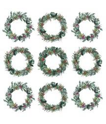 Zestaw papierów do scrapbookingu 30x30 cm, Świąteczna Girlanda - Paper Heaven