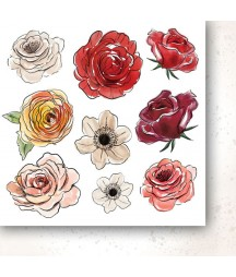 Bloczek do scrapbookingu 15x15 cm, Świąteczna Girlanda flowers - dodatki - Paper Heaven