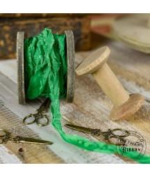 Wstążka Vintage 27 soczysta zieleń 120 cm - doskonała do projektów handmade