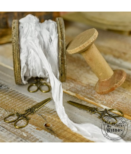 Wstążka Vintage Old Fashion biała