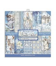 Papiery do scrapbookingu, Winter Tales SBBS19 Stamperia - bloczek 20x20
