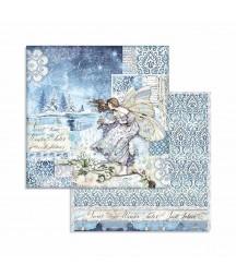 Bloczek papierów do scrapbookingu 15x15 cm, Winter Tales / Stamperia SBBXS04