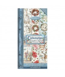 Bloczek papierów do scrapbookingu 15x30 cm, Winter Tales / Stamperia SBBV07