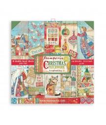 Bloczek świątecznych papierów do scrapbookingu Stamperia, Christmas Patchwork 30x30