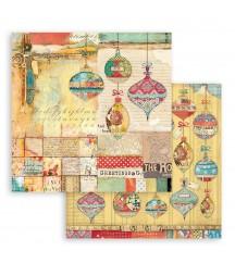 Bloczek papierów do scrapbookingu 15x15 cm, Christmas Patchwork / Stamperia SBBXS05